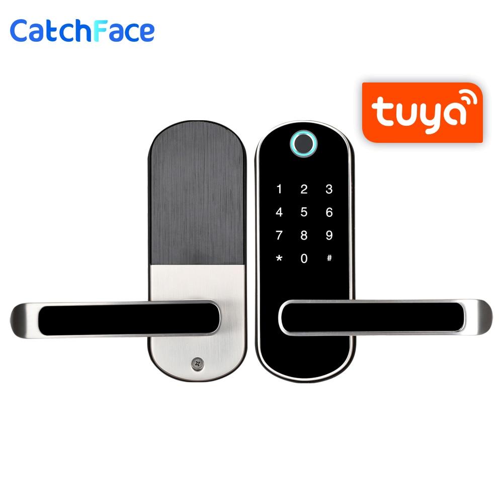 Biometric Fingerprint Door Lock  Tuya APP Smart Electronic Lock  Safe Home Lock RFID Keykess  Doorbell Digital Wifi Door Lock