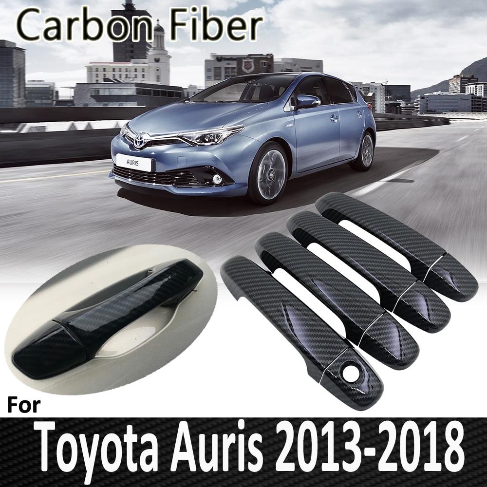 Fibre de carbone noire pour Toyota Auris E180 hayon (AU) Scion iM 2013 2014 2015 2016 2017 2018 couverture de poignée de porte accessoires de voiture
