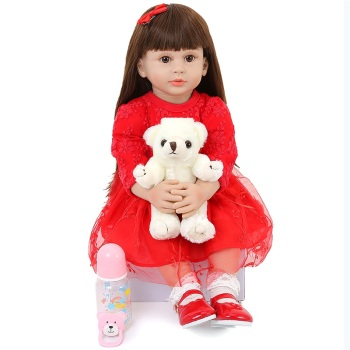 58CM Reborn Baby Toddler Realistic Baby Dolls Cute Princess Silicone Babies Doll Reborns Newborn Baby Dolls For Infant Birthday wholesale 23 fashion doll reborn babies full silicone vinyl newborn dolls blonde wig baby toys for princess birthday gifts