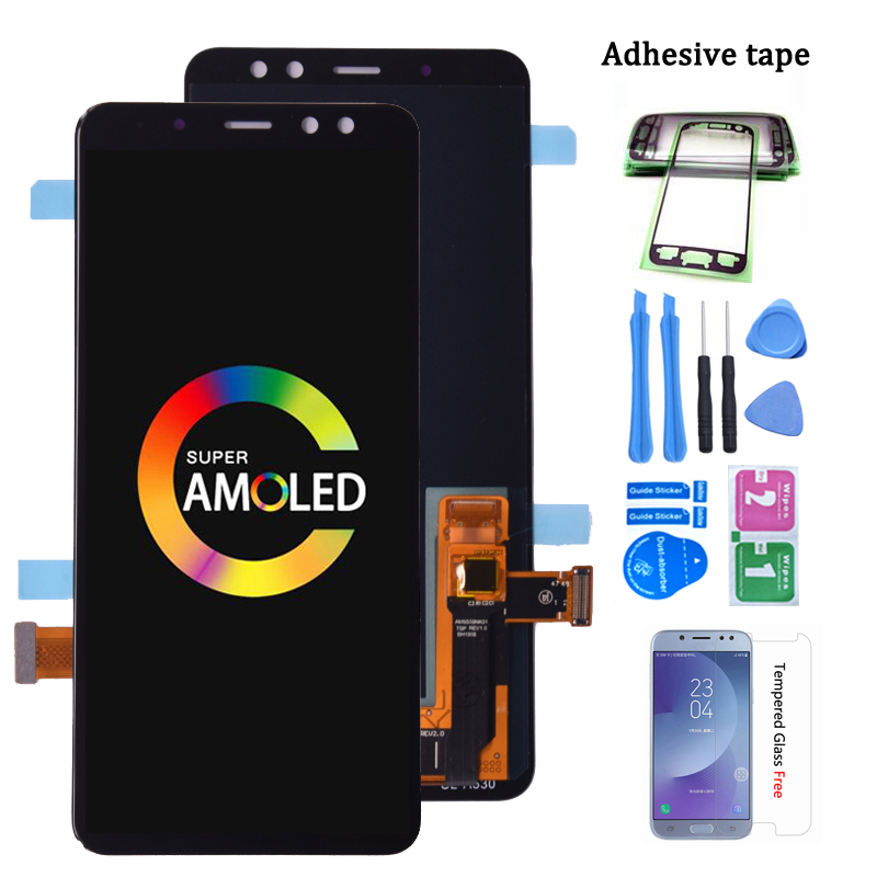 Super Amoled For SAMSUNG GALAXY <font><b>A8</b></font> <font><b>2018</b></font> A530 A530F LCD <font><b>Display</b></font> with Touch Screen Digitizer Assembly <font><b>A8</b></font> <font><b>2018</b></font> Duos lcd A530F/DS image