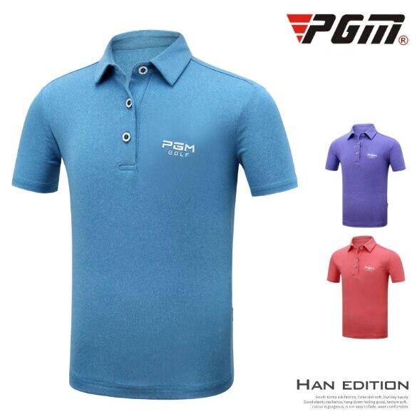 Pgm Golf Men Ultra-Thin Tops Short Sleeve T-Shirt Summer Quick Dry Sportswear Jersey Breathable Cool T-Shirt