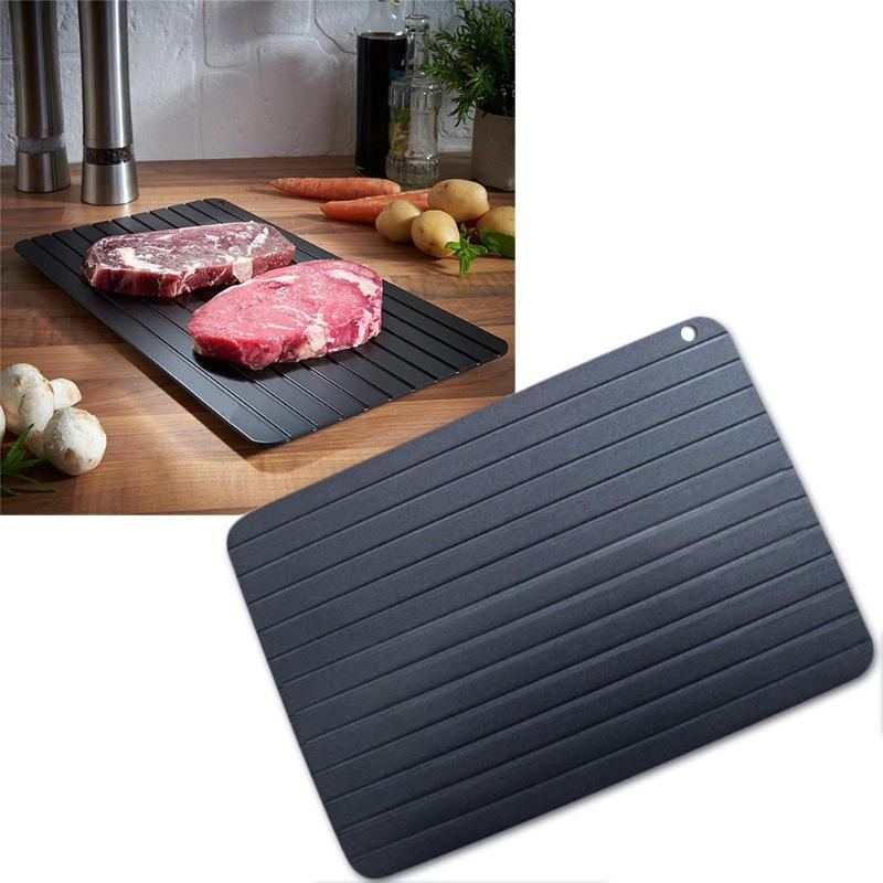 1pcs Defrost Tray Metal Plate Defrosting Tray Safe Fast Thawing Frozen Meat Fish Sea Food Kitchen Cook Gadget Tool