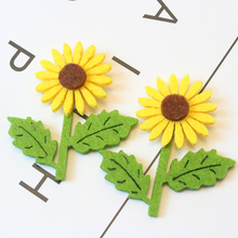AVEBIEN New 50pcs Sunflower DIY Craft Decorations Accessories Gift/Bags/Cup/Box Nonwovens Fabric Handmade