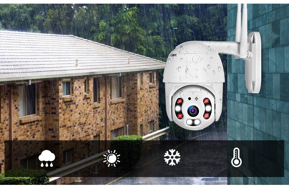 H1d802a01d1e142a1b8846fbc44186747s KERUI Outdoor Waterproof Wireless 1080P 2MP PTZ WiFi IP Camera Speed Dome Camera H.264+ IR Home Security CCTV Surveillance