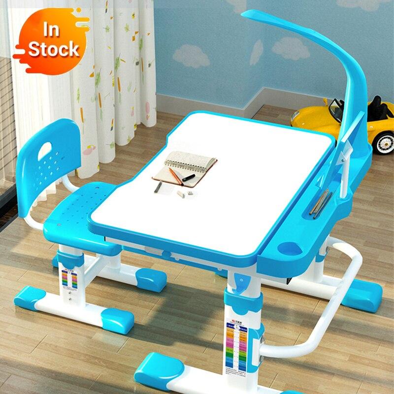 Teslimat normal çok fonksiyonlu çocuk çalışma çocuk ödev ergonomik öğrenci ayarlanabilir masa ve sandalye kombinasyonu masaüstü
