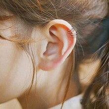 Korean Earnails Simple Double Line Plain Circle Size Ear Clip Retro Hollow U-shaped Bone No Hole Buckle