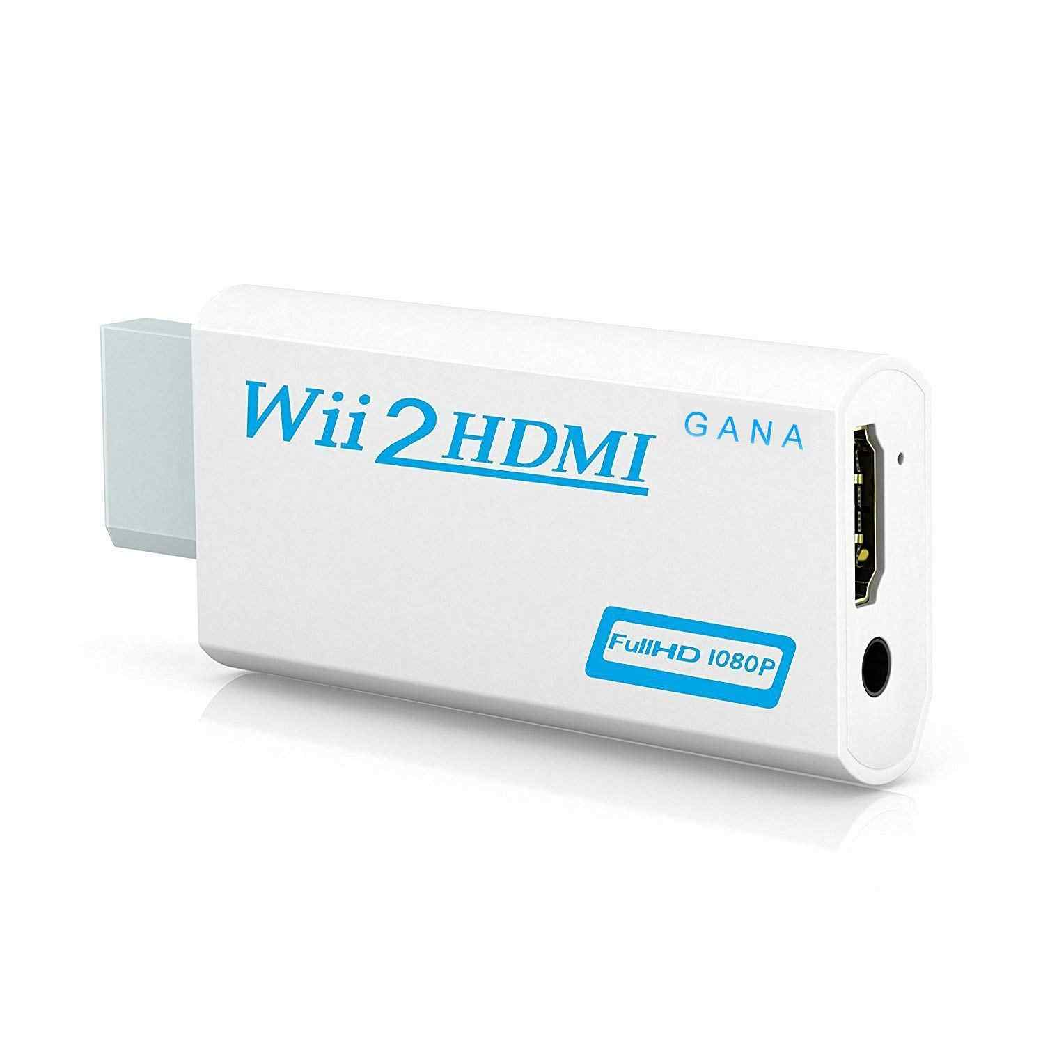 Full HD 1080P Wii untuk HDMI Konverter Adaptor Wii2HDMI Konverter 3.5 Mm Audio untuk PC HDTV Monitor Display