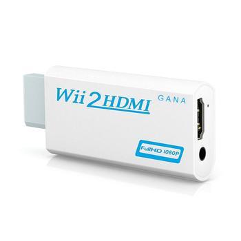 Full HD 1080P wii в HDMI конвертер адаптер wii 2HDMI конвертер 3,5 мм аудио для ПК HDTV монитор дисплей