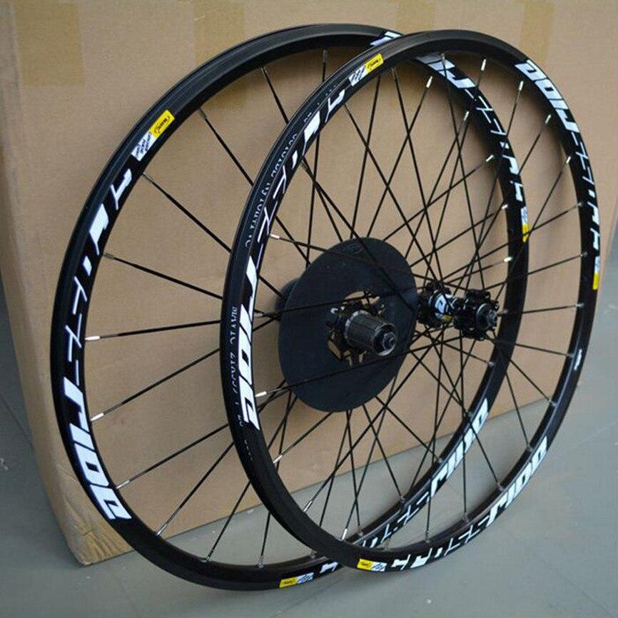 Mtb mountain bike 26 27.5 29 polegadas e disco, conjunto de roda de travamento a disco com rodas e rolamento selado, aro de liga de seis furos fogo plano