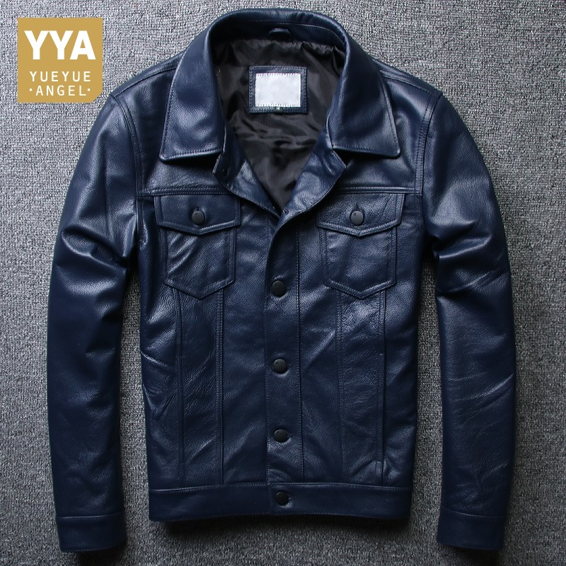 Top Quality Men Natural Cowhide Leather Pilot Jacket Slim Fit Motor Biker Windbreaker Coat Man Casual Genuine Leather Jacket 5XL