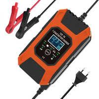 FOXSUR-cargador de batería de etapa 7, 12V 7A, plomo, GEL STD AGM, cargador de batería de motocicleta, mantenimiento de carga de pulso y desulfatador