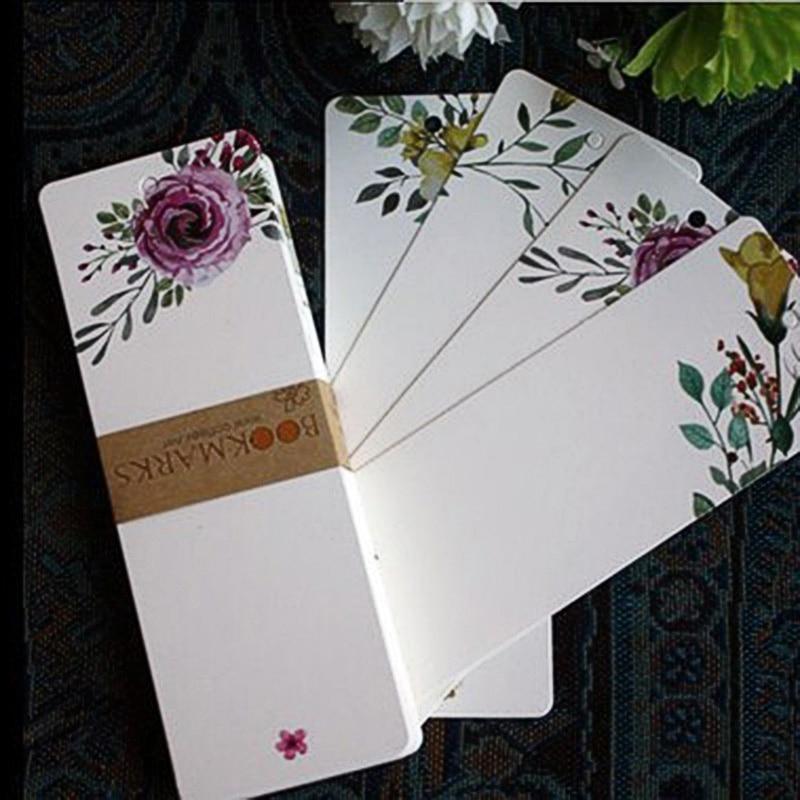 40Pcs Elegant Bookmarks Kawaii Flower Bookmarks Novelty Paper Book Marks For Kids Girls Gifts School Office Supplies Stationery