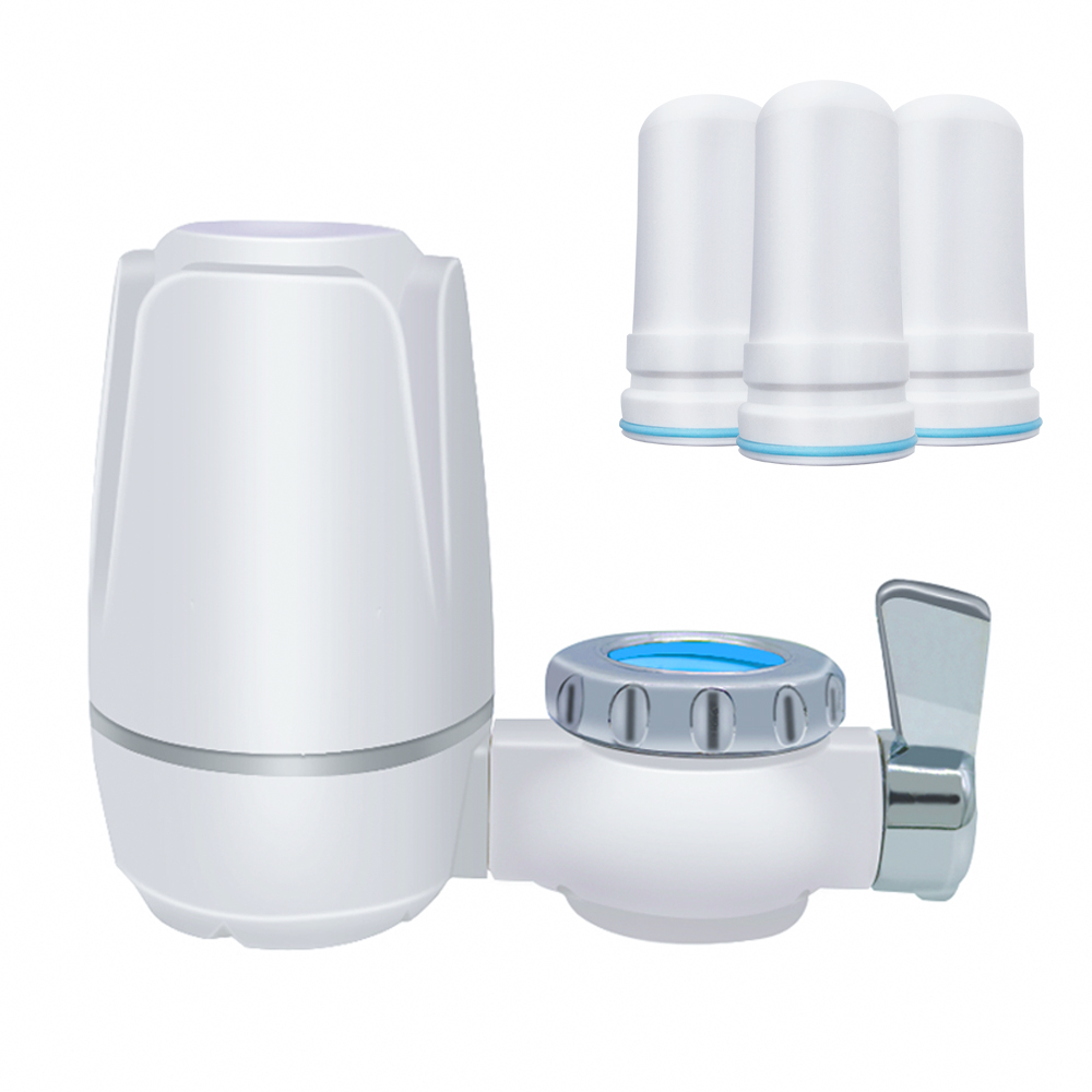Free shipping 8 layers purification Ceramic filter for water filter purifier kitchen faucet Attach and 3 pcs Filter cartridges