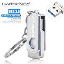 새로운 wansenda usb 3.0 usb 플래시 드라이브 회전 펜 드라이브 16 기가 바이트 32 기가 바이트 64 기가 바이트 128 기가 바이트 256 기가 바이트 pendrive usb 3.0 플래시 드라이브 메모리 스틱