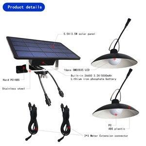 Image 4 - Luminária led de emergência solar, duas cabeças, para áreas externas/internas, à prova d água ip65, para acampamento, jardim, casa, barraca, lustre