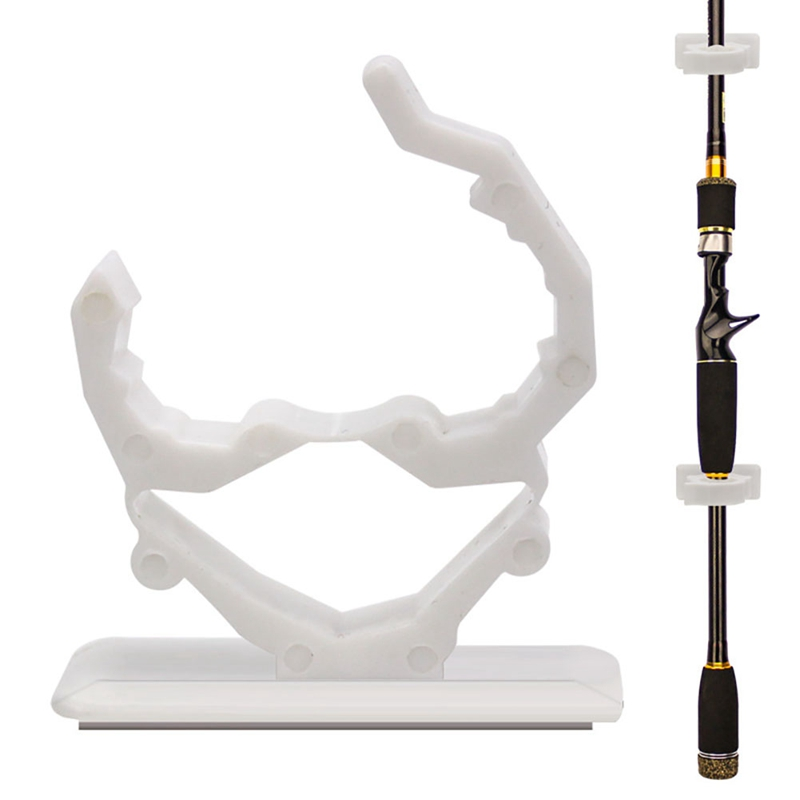 Fishing Rod Rack Self-Adhesive Tile Wall Mounted DIY Lock Clip Bracket Pole Storage Holder Fishing Tools