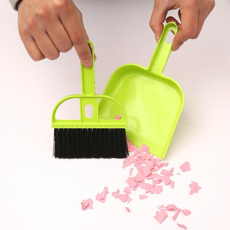 Набор мини-метлы для чистки стола, милая щетка для чистки кухонных углов, для клавиатуры автомобиля