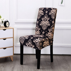 Spandex Elastic Printing Dining Chair Slipcover Modern Removable Anti-dirty Kitchen Seat Case Stretch Chair Cover for Banquet