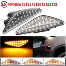 Per BMW X3 F25 X5 E70 X6 E71 E72 2008 2014 LED indicatore di direzione dinamico indicatore di direzione laterale parafango indicatore sequenziale lampeggiante