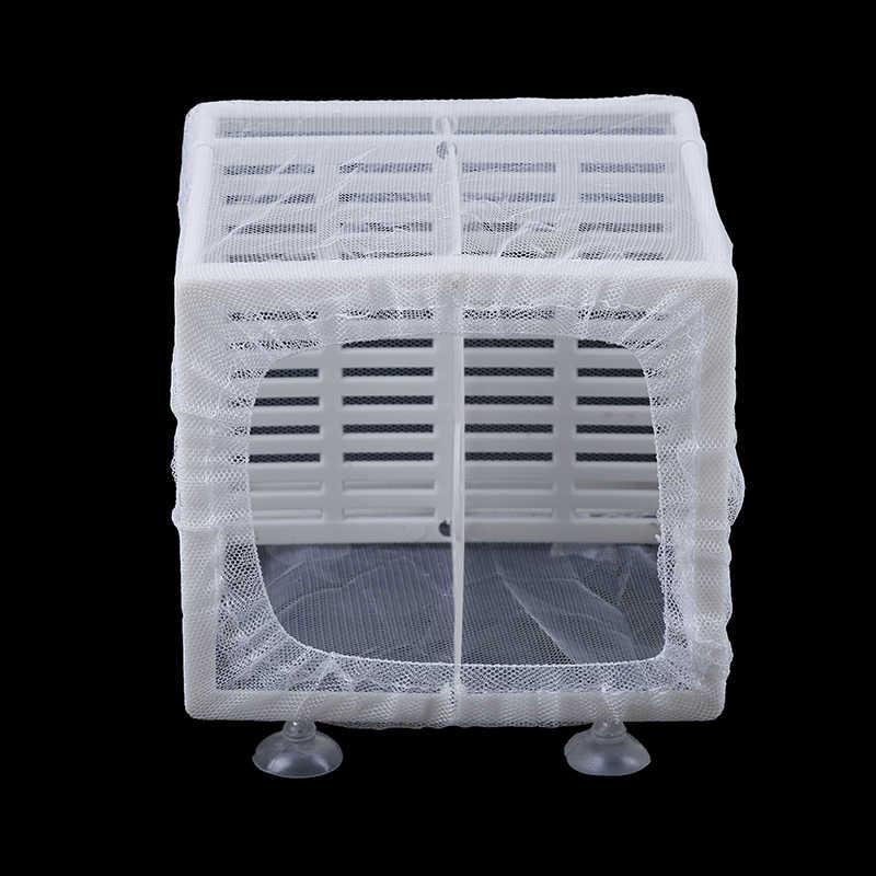 1 세트 16.5x14.5x15cm 물고기 번식 메쉬 + 플라스틱 인큐베이터 그물 교수형 물고기 부화장 격리 상자 수족관 액세서리