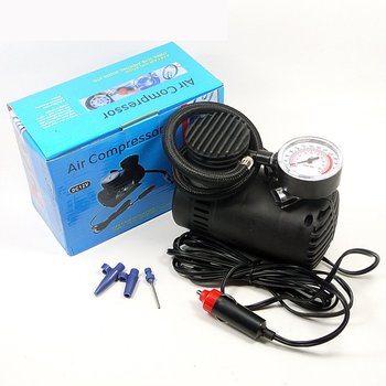 12V Mini Air Pump Metal Car Auto Portable Mini Electric Air Compressor Kit For Ball Bicycle Minicar Tire Inflator Pump 1 Set image