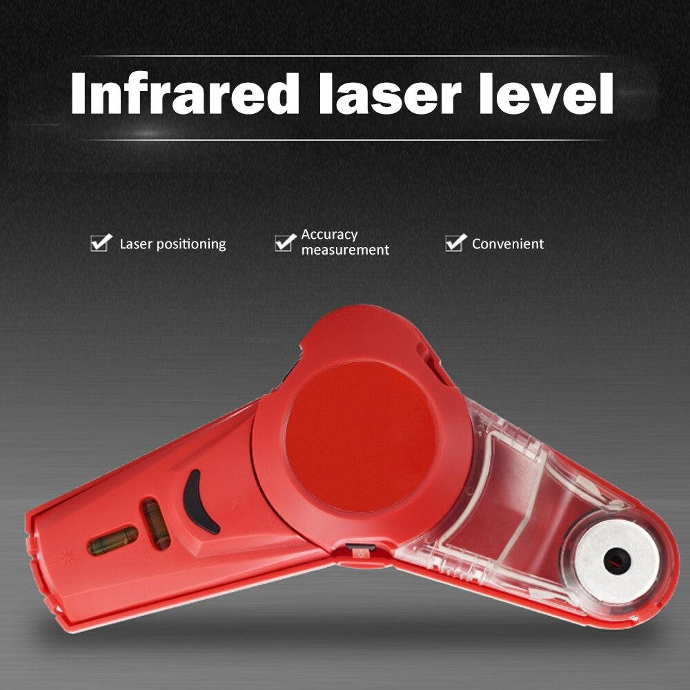 Professionelle Bohren Helfer Staub Catcher Gebäude Leveler Multi-Funktion Drill Guide Linie Laser Platz Winkel Laser Ebene