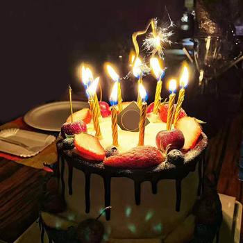 10 szt Magiczna sztuczka świece rozświetlające Brthday świeczka tortowa Party nowość Joke Kids TSLM2 tanie i dobre opinie Liplasting Other Filar Urodziny Ogólne świeca Ponownego oświetlania świeca Parafina candle*10 base*10