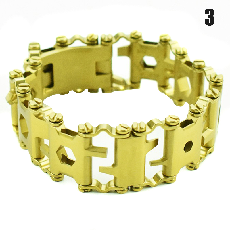 High Quality <font><b>Multi</b></font>-<font><b>Tools</b></font> <font><b>Bracelet</b></font> <font><b>29</b></font>-<font><b>in</b></font>-<font><b>1</b></font> Multifunction <font><b>Tool</b></font> Stainless Steel <font><b>Bracelet</b></font> Screwdriver Opener Wrench M88 image