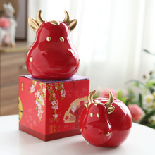 Piggy-Bank Gift Creative Decoration for Adults And Children 1-Pc Lucky-Cow-Bull