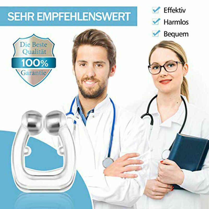 シリコン磁気抗いびき鼻クリップ呼吸停止いびき無呼吸 Antisnoring クリップデバイスアンチ Schnarchen ナーゼクリップ