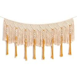 Wall Hanging Macrame kurtyna Fringe Banner czeski dekoracje ścienne tkane gobeliny dekoracji wnętrz na ślub apartament sypialnia Livi|Dekoracyjne gobeliny|Dom i ogród -