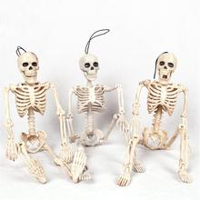 Poseable Skeleton Figure With Movable Joints Haunted House Props For Halloween Party Decoration
