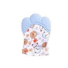 Hilittlekids детские перчатки-грызунки молярная палка нетоксичный силиконовый клюшки милая детская одежда с мультяшными узорами