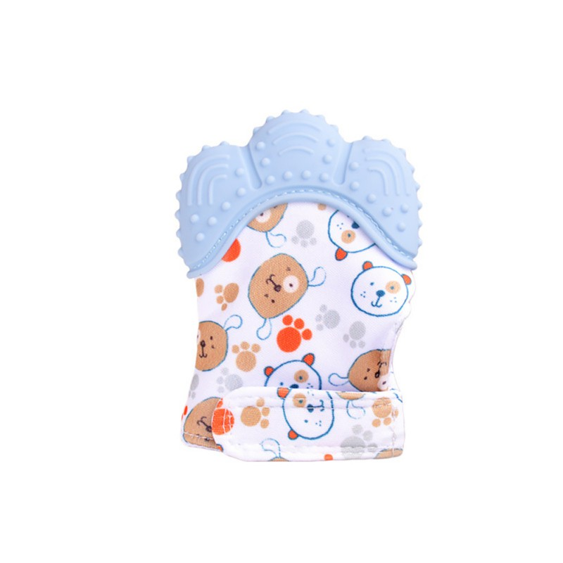 Hilittlekids Baby Teether Gloves Molar Stick Non Toxic Silicone Bite Stick Cute Cartoon Pattern Print Toy