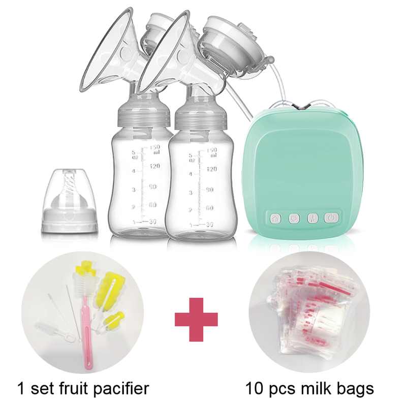 Wireless Mother Milk Exactor Electric Breastfeeding Pump with Baby Pacifier Set