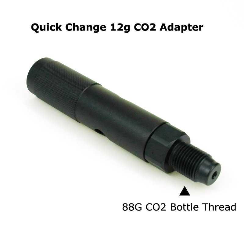 الطلاء الكرة Pcp الهواء التغيير السريع 12G Co2 محول مع Co2 88G زجاجة مواضيع عن القوات الجوية