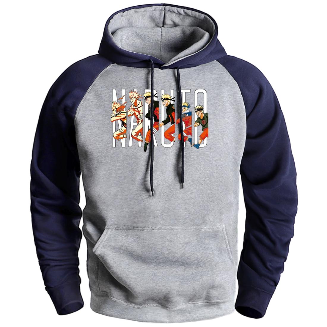 Naruto Sweatshirts Cartoon Naruto Hoodies Pullover Mens Autumn Winter Fleece Hooded Tracksuit Streetwear 2020 Fashion Sportswear