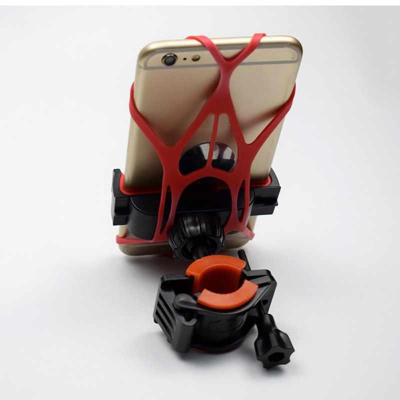 مادة سيليكون آمنة وعملية المحمول حامل جوّال بلاستيكي رواية دراجة حامل هاتف المحمول ضمادة جديد Hotsale