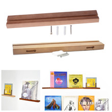 Durable Beech Record Display Stand Bracket Turntable Holder for LP Vinyl Records Kit