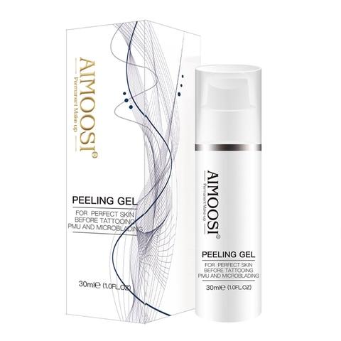 3 pcs aimoosi esfoliante gel pele cuticula limpeza solucao semi permanente maquiagem sobrancelha branqueamento labio