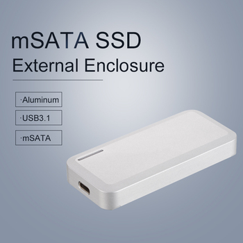 Uneatop Aluminum USB3.1 Type-C to Mini SATA SSD External HDD Enclosure for USB3.1 Adapter Hard Drive Case