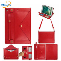 For New iPad 9.7 inch 2018 2017 Case With Pencil Holder PU Leather Cover For iPad Air 1 2/Pro 9.7 Hand Shoulder Strap Shell+Film
