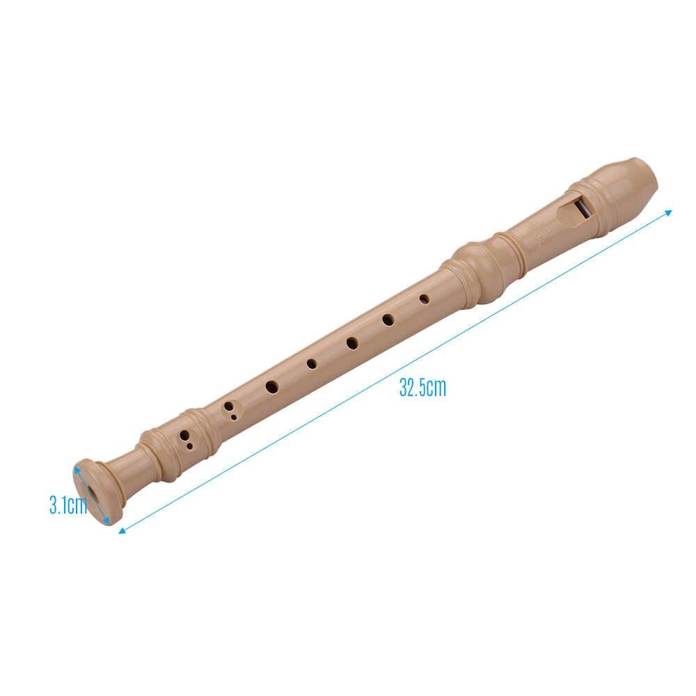 QM8A-4B Baroque Gaya Main Jari 8 Lubang Soprano Tape Recorder ABS Flute Portable Jari Sisanya Instrumen Angin untuk Pemula