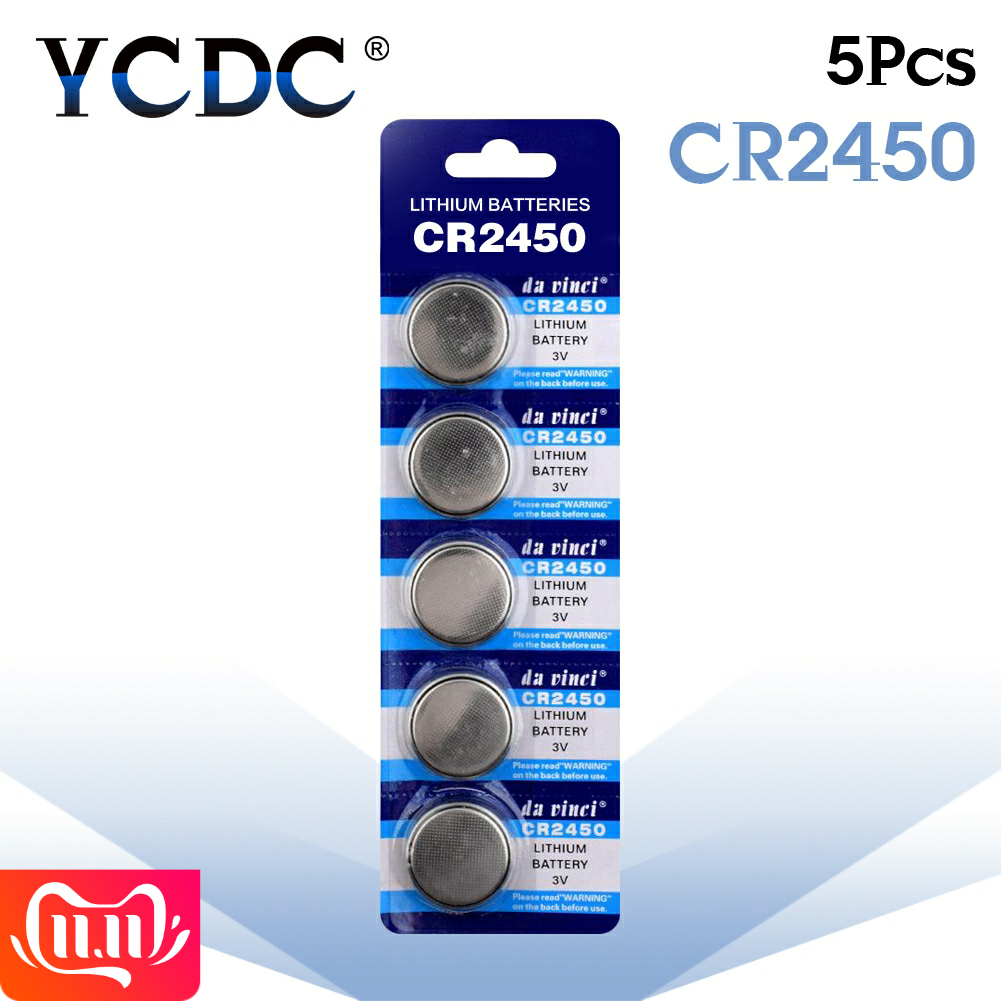 5pcs/pack CR2450 Button Batteries KCR2450 5029LC LM2450 Cell Coin Lithium Battery 3V CR 2450 For Watch Electronic Toy Remote