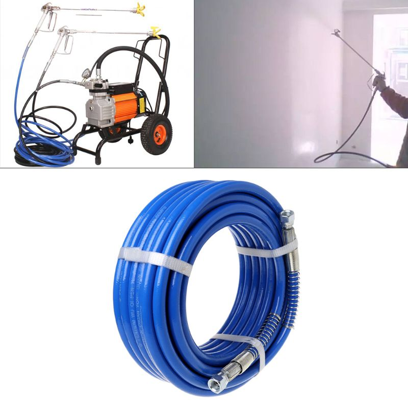 15m Airless Paint Spray Hose Tube Pipe 5000PSI Sprayer Fiber For Sprayer Gun New