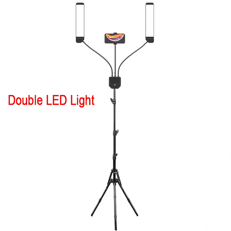 New LED Ring Light Photographic Lighting 3000K-5600K 288PCS LED Dimmable Double Arms Fill light Camera Lamp With Tripod Stand