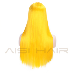 Image 2 - AISI HAIR White Synthetic Lace Front Wig Long Straight Wigs For Women 24Inch Middle Part Black Red Cosplay or Party Wigs