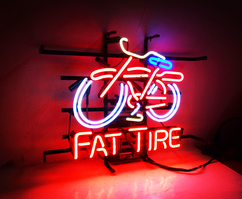FAT TIME Neon Sign neon Light Sign arcade Lamp galss tubes Custom Design Outdoor Restaurant Neon signs for sale Dropshipping-Leather bag