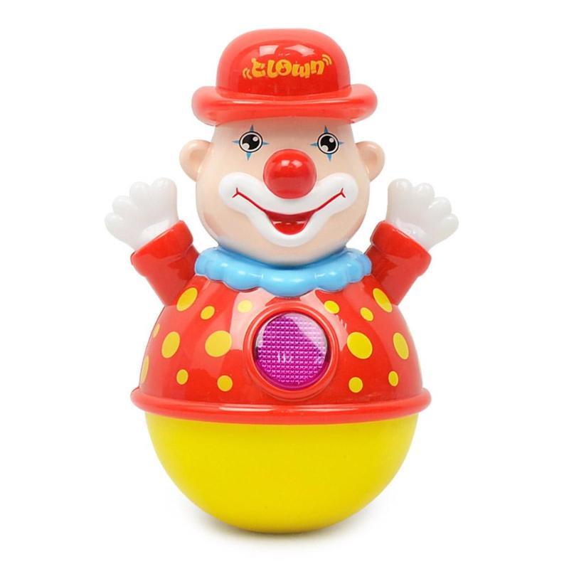 New Born Luminous Tumbler Toy Lovely Shape Infant Sweet Music Luminous Clown Swing Tumbler Toys Baby Gift