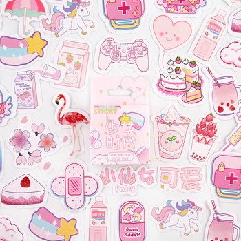 45 sztuk śliczny różowy wróżka papiernicze naklejki Scrapbooking pamiętnik Kawaii naklejki Diy dekoracyjne szkolne tanie i dobre opinie CN (pochodzenie) stationery sticker 6 lat 3 lata 8 lat Irregular figure